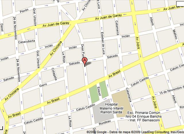 ubicación en la ciudad de Buenos Aires